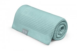 Eukaliptusowy kocyk 80x100 DUSTY MINT - eco collection My Memi